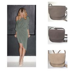 SanneRose bags with the khaki Tricia dress from NFD