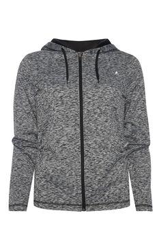 Primark - Grey Space Dye Zip Workout Hoody