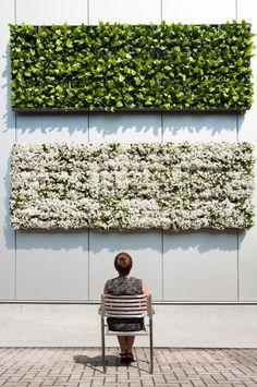 D&M Depot Karoo verticale plantenbak, combinatie grijs/wit/groen