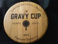 Custom Barrel Head - All of our products are hand wood burned Bourbon Barrel Rehab - Home Bourbon Barrel, Wood Burning, Bamboo Cutting Board, Kentucky, How To Make, Products, Woodburning, Gadget, Firewood