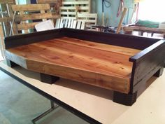 Cedar pallet dog bed.
