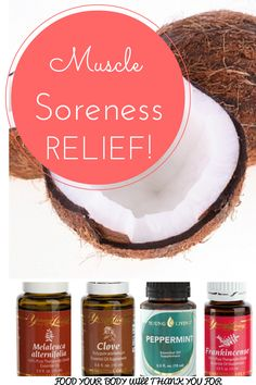 Muscle Soreness Relief Blend Essential oils needed: 6 drops Frankincense 6 drops Melaleuca (Alternifolia) 6 drops Peppermint 3 drops of *Clove 1/16 (or a smidgen) of coconut oil *Clove should be diluted (20/80), hence the coconut oil in the recipe Directions: mix all ingredients together and  massage onto the muscles.