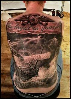 Pirate ship tattoo awesome
