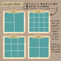 FREE Set of 5 Photo Collage Templates - easy to use, perfect for ...