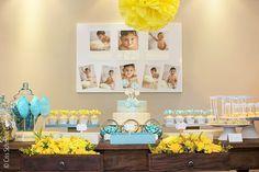 Festa Loja de doces azul e amarela Candy shop party #blueandyellow Ideia de festa para menino boys party idea