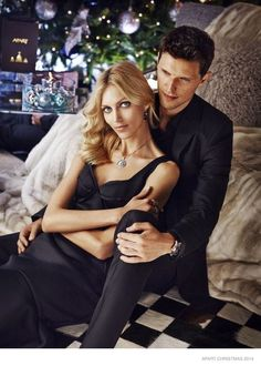 Anja's Romantic Christmas--Polish model Anja Rubik is back for the Christmas 2014 advertising campaign from Apart Jewelry. Just like last year, the blonde