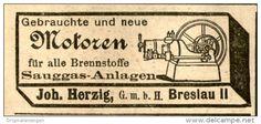 Original-Werbung/ Anzeige 1905 - MOTOREN / HERZIG BRESLAU - ca. 45 x 20 mm