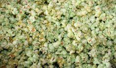 Green Jell-O Popcorn!  St Patrick's Day