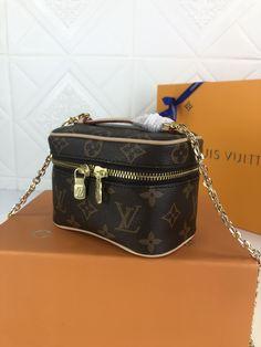 NICE VANITY MAKE UP | Theluxinbox Lv Tote, Beauty Essentials, Monogram Canvas, Cowhide Leather, Dust Bag, Vanity, Make Up, Zip, Stylish