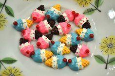 Cute Pink ice cream cabochons 6 pcs via Etsy