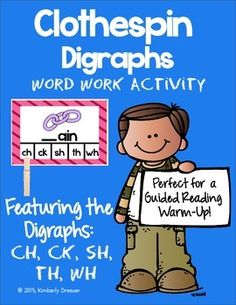 Wilson Fundations Kindergarten-aligned for Unit 4 with the study of five digraphs: CH, CK, SH, TH, and WH! There are 10 cards for each of the five digraphs, for 50 cards total. Students have to identify which digraph completes the word and picture shown.