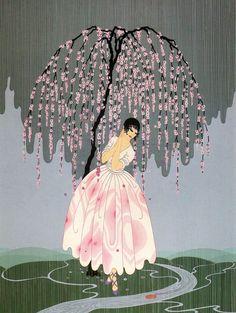 Blossom Umbrella by Erte