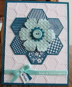 Our Little Inspirations: Hexagons, Chevrons & Hearts  Pool Party and Island Indigo