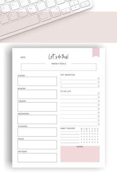 To Do Lists Printable, Printable Planner Pages, Printable Calendar Template, Goals Printable, Homework Planner Printable, Free Planner Pages, Printables, To Do Planner, Study Planner