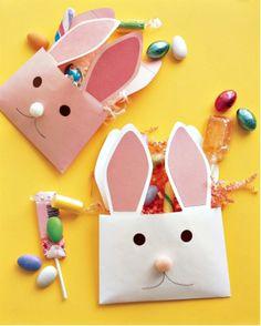 DIY Easter Ideas - Envelope Bunny Baskets