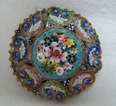 A Unique Vintage or Possibly Antique Italian Micro Mosaic Grand Tour Brooch | eBay