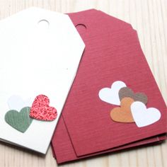Make Valentine  cards this year from left over paper scraps!