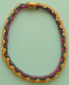 Swarovski Bead crochet crystal necklace Golden by Romancingtheneck, $175.00