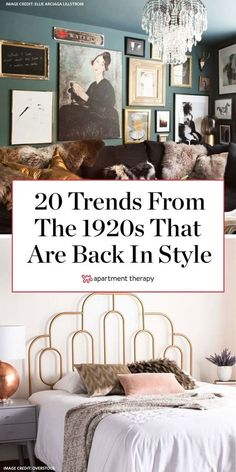 Filled with luxurious fabrics, sharp lines, mixed metallics, and rich color palettes, Art Deco style decor is both glamorous and eclectic. No surprise then that these decor trends are making a comeback. #artdeco #1920s #vintage #designtrends #decortrends #artdecodecor #1920sdecor #antiques #nostalgiadecor #decorideas