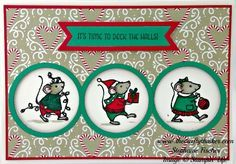 Stampin' Up, #thecraftythinker, Christmas Card, Merry Mice, Xmas