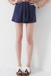 Anomalous Front Lower Dark Blue Culotte    $35.99    romwe.com #Romwe
