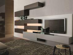 TAO10 Mueble modular de pared de madera by MisuraEmme diseño Mauro Lipparini