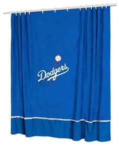 MLB Los Angeles Dodgers Fabric Shower Curtain Dodgers Party, Dodgers Gear, Dodgers Nation, Let's Go Dodgers, Dodgers Baseball, Los Angeles Dodgers, Mlb, Dodger Blue, Better Baseball