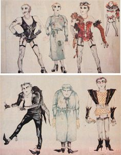 Rocky Horror Picture Show, Frank-N-Furter and Riff Raff's original designs, costume designer Sue Blane