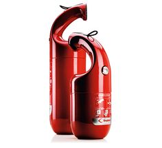 Firephant  Designers: Lars Wettre, Jonas Forsman    The Firephant gives the fire extinguisher a fascinating new design vocabulary. It is self-explanatory and easy to use and can be quickly employed in an emergency. This fire extinguisher turns a product that was previously hidden away into a colourful object that makes an emblematic statement. This is innovative + practical, we need more of this kinda of design, 2 thumbs up!