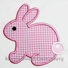 On Sale Easter Bunny Machine Embroidery Applique Design Applique Embroidery Designs, Machine Embroidery Applique, Silk Ribbon Embroidery, Crewel Embroidery, Applique Patterns, Applique Quilts, Machine Applique Designs, Embroidery Supplies, Applique Templates Free
