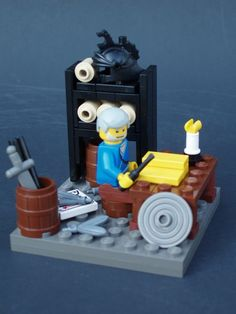 Mormon abridging the plates... Lego Book of Mormon site