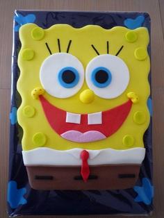 BOB ESPONJA/SPONGE BOB by fati dream cakes, via Flickr Sponge Bob Cupcakes, Sponge Bob Party, Sponge Bob Cake, Spongebob Birthday Party, Angry Birds Cake, Funny Cake, Character Cakes, Dream Cake, Disney Cakes