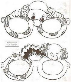 lunettes de carnaval (clown)