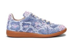 Maison Martin Margiela Suede Python Print Sneakers | Hypebeast