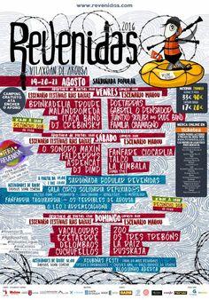 """CORES DE CAMBADOS: FESTIVAL """"REVENIDAS 2016"""" A VINDEIRA FIN DE SEMANA..."""