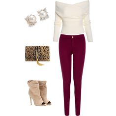 A fashion look from January 2015 featuring Oasis jeans, Burberry ankle booties and Yves Saint Laurent clutches. Browse and shop related looks.