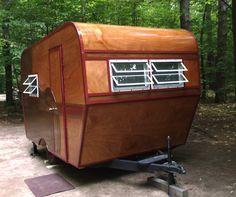 Terri Trier camper Home Made! http://www.doityourselfrv.com/homemade-wooden-camper/