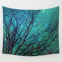 Wall Tapestries featuring magical night by Sylvia Cook Photography