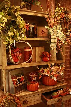Fall Decor Ideas in the Flower Shop at Wickmans Garden Village!