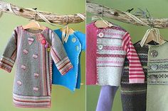 Repurposing sweaters to kids cloathes. I will start looking at old sweaters differently.