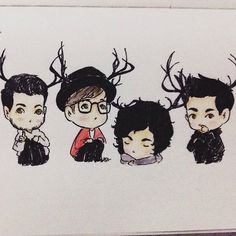 fall out boy chibi - Google Search THEY LOOK LIKE THEY'RE FROM SWGDS