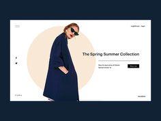 Website Design Layout, Website Design Inspiration, Layout Design, Fashion Store Design, Web Design Examples, Best Banner Design, Desktop Design, Fashion Banner, Summer Banner