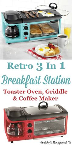 Who needs a kitchen when you can have a toaster, coffee maker and griddle all in one? This retro 3 in 1 breakfast station appliance does it all, and looks great on your kitchen counter.