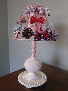 Lamp shade hair bow display addisonpiper