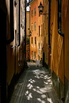 Shadows on the street in Gamla Stan, the old town in Stockholm. HDR from 3 ISO bracketed photos, processed in Photomatix. Beautiful Streets, Beautiful World, Beautiful Places, Monuments, The Places Youll Go, Places To Go, Kingdom Of Sweden, Swedish House, Stockholm Sweden