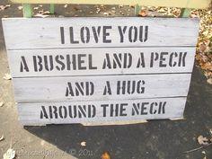 Hug around the neck...