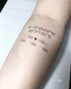 Family Name Tattoos, Names Tattoos For Men, Baby Name Tattoos, Tattoos For Kids, Couple Tattoos, Date Tattoos, Mini Tattoos, Small Tattoos, Sleeve Tattoos