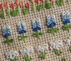 Embroidery Stitches lazy daisy detached chain stitch zárt láncöltés