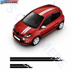 Buy Racing Sport Styling Stripes Car Hood Tail Decor Sticker Auto Body Customized Decal For Renault Twingo Car Stickers, Decals, Stripes, Racing, Sports, Hs Sports, Tags, Bumper Stickers For Cars, Decal