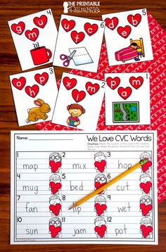 Valentine's Day Centers for Kindergarten - Are you looking for hands-on and engaging activities to bring Valentine's Day into your Kindergar - Writing Center Kindergarten, Kindergarten Lessons, Kindergarten Reading, Kindergarten Classroom, Literacy, Valentines Writing Kindergarten, Classroom Ideas, Valentines Day Activities, Valentine Games